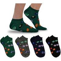12er-Pack Socken mit Billard-Motiv in mehreren Farben