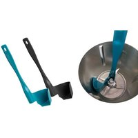1x oder 2x Küchen-Drehspatel in Schwarz und / oder Blau, inkl. Versand