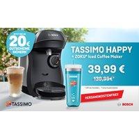 TASSIMO HAPPY inkl. Zoku® Iced Coffee Maker, Online-Gutscheinen im Wert von bis zu 20€** sowie gratis Versand
