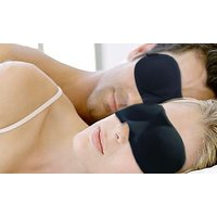 1x, 2x oder 3x Schlafmaske in Schwarz