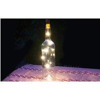 Grafner LED-Drahtlichterkette mit Korken für eine Beleuchtung einer Glasflasche
