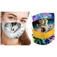 One, Three or Five TwoPly Digital Abstract Print Cotton Face Masks