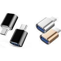 1x oder 2x USB-C-zu-USB 3.0-Adapter in Gold, Schwarz oder Silber