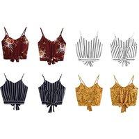 Bauchfreies Damen-Top mit V-Ausschnitt in der Farbe und Größe nach Wahl