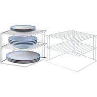 Küchen-Eckregal mit 3 Ablagen in Weiß