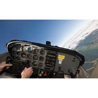 25 oder 40 Minuten das Ultraleichtflugzeug Eurostar SL selbst fliegen in der Ostseeflugschule
