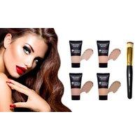 Gerader Make-up-Pinsel oder Foundation mit Mousse-Textur im Farbton nach Wahl