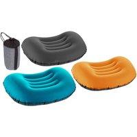 1x oder 2x aufblasbares Kissen in Blaugrün, Schwarz oder Orange für Reisen oder Camping