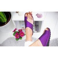 Plateau-Sandalen mit Zehenkorrektur in der Farbe und Größe nach Wahl für Damen