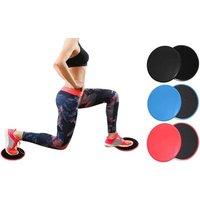 1x, 2x oder 3x 2er-Pack Fitness Slide Pads in Schwarz, Blau oder Rot