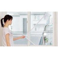 Fenster-Moskitonetz mit Magnet-Verschluss in Schwarz oder Weiß