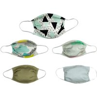 5 or 10 Reusable Printed Face Masks