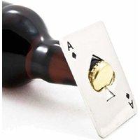 """1x, 2x oder 4x Edelstahl-Flaschenöffner """"Ace of spades"""" im Kreditkarten-Format"""
