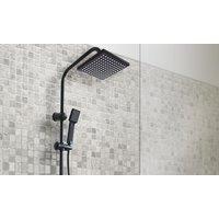 Grafner Duschgarnitur R350 in Schwarz oder Silber mit Regenschauerduschkopf, Handbrause und Duschsäule