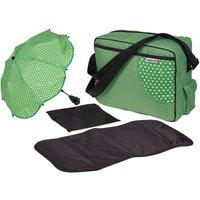 'Hauck Green Ladybird Nappy Bag, Changing Mat And Buggy Parasol Set