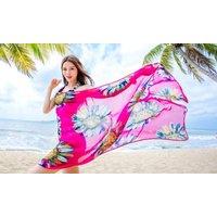 1x, 2x, 3x oder 5x Pareo-Kleid mit Trägern in der Farbe nach Wahl