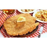Groupon DE 3-Gänge-Menü mit Schnitzel (ca. 300 g), Beilage, Salat und Dessert im Steakhaus Rosario (bis zu 58% sparen*)
