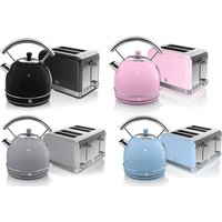 Swan Retro Dome Kettle and Two or FourSlice Toaster Set