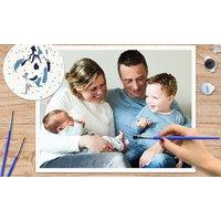 Malen nach Zahlen – Vorlage mit personalisiertem Bild für 36  48 Farben von Lieblingsfoto