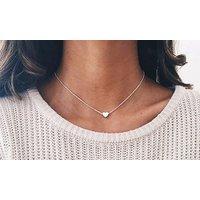 Halskette mit Herz-Anhänger in Silber