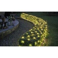 1x oder 2x Solar-Lichternetz mit 105 LEDs für Innen- oder Außenbereich