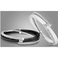 OMG Jewel Damenring aus Keramik in Weiß oder Schwarz mit Swarovski®-Kristallen