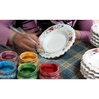 """Workshop """"Keramik bemalen"""" inkl. Brennen einer Schale, Tasse oder Teller in der Fühlbar Berlin (bis"""
