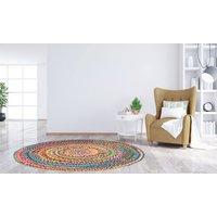 Handgefertigter, bunter Baumwoll-Teppich in der Größe nach Wahl