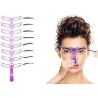 1x oder 2x 8er-Set Augenbrauen-Schablone zum Nachzeichnen beider Augenbrauen