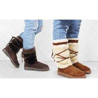 Women's Fleece Detail Short or Tall Boots