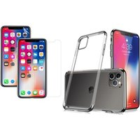 Case mit 2 Schutzfolien für iPhone im Modell und in der Farbe nach Wahl