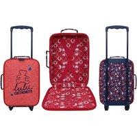 1x, 2x oder 3x Lulu Castagnette Kabinenkoffer mit Blumen-Muster für Kinder