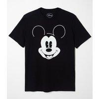 Camiseta Manga Curta Estampa Mickey Brilha no Escuro Mickey Mouse Preto PP