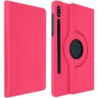 Avizar Funda Libro Soporte Fucsia para Samsung Galaxy Tab S7 Plus 12.4
