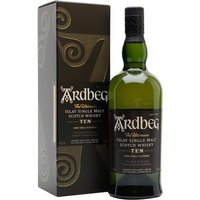 70cl / 46% / Distillery Bottling - For peat lovers, Ardbeg 10 Year Old is probably the highest-quality 'entry-level' single malt on the market, and the distillery many Islay connoisseurs would choose as their favourite. A whirlwind of peat and complex malty flavours.