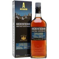 70cl / 43% / Distillery Bottling - The ever-popular Auchentoshan 3 Wood is matured initially in bourbon casks before being finished in Oloroso then Pedro Xim�nez casks for an extra layer of rich, sweet fruitiness.