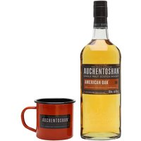 70cl / 40% / Distillery Bottling - This gift set from Auchentoshan contains a bottle of American Oak and a tin cup to drink it from. It is a vanilla-rich and fruity whisky matured exclusively in first-fill bourbon casks.