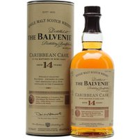 70cl / 43% / Distillery Bottling - A 14-year-old limited-edition Balvenie which finished its maturation in casks which had previously held Caribbean rum. Expect vanilla and toffee notes as the rum contributes extra sweetness to the flavours.