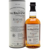 70cl / 43% / Distillery Bottling - A 17yo Balvenie finished in a Jamaican rum cask, likely to appeal to fans of the successful 14yo Rum Wood expression released, er, three years previously.