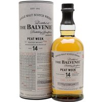 70cl / 48.3% / Distillery Bottling - Balvenie produces peated whisky for one week a year � named 'Peat Week'. This inaugural release is from 2002 and has been aged in American oak for 14 years. The result is a gently smoky whisky with notes of citrus, vanilla and blossom honey.