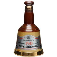 18.75cl / 40% - A dinky bell-shaped decanter of Bell's blended whisky. This 18.75cl decanter was producted to celebrate 150 years of Bell's Scotch whisky. Please note this is an 18.75cl bottle.