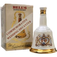 75cl / 40% - An 75cl ceramic decanter of Bell's, produced in celebration of the wedding of Prince Charles and Lady Diana Spencer in 1981.