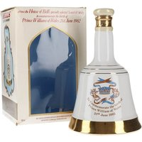 50cl / 40% - A limited edition ceramic Bell's decanter produced to celebrate the birth of Prince William on 21st June 1982.  This contains Bell's blended Scotch Whisky.