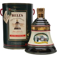 75cl / 43% - Bell's annual Christmas decanter releases are much anticipated.  This is the 1990 edition of the series. The decanter contains Bell's Extra Special blended Scotch whisky.