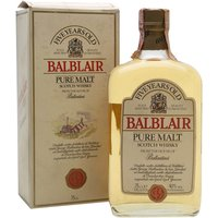 75cl / 40% / Distillery Bottling - A rare young Balblair bottled in the 1980s in a flat bottle with a label emphasising the distillery's (then) connections with Ballantine's blend.
