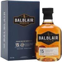 Balblair 15 Year Old Highland Single Malt Scotch Whisky