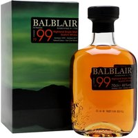 70cl / 46% / Distillery Bottling - Balblair's third release of its 1999 vintage was bottled in 2017.  It's a combination of American oak, ex-bourbon barrels and Spanish oak ex-sherry butts.