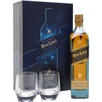 Johnnie Walker Blue Label / 2 Glass Set Blended Scotch Whisky