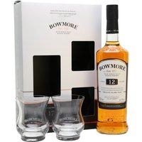 Bowmore 12 Year Old Glass Pack Islay Single Malt Scotch Whisky