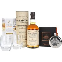 70cl / 40% - Know a Balvenie fan who wants to go to The Whisky Show and want to accompany them? This collection combines a bottle of Balvenie DoubleWood 12yo with a hip flask, a pair of Balvenie glasses and four of our fantastic chocolates with a pair of tickets to the Sunday 1 October 2017 session of The Whisky Exchange Whisky Show in London.